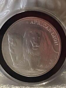2016 African Lion Series Republic Of Congo 1 oz .999 Silver African Lion BU Coin