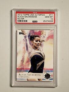 2012 Topps USA Olympics Silver Alicia Sacramone ROOKIE RC #11 PSA 10 GEM MINT