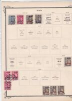 siam used stamps on album page   ref r9080