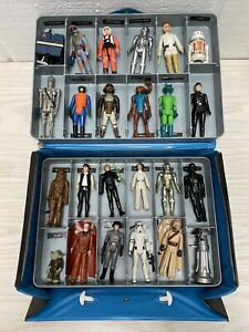 Vintage Star Wars Action Figures & Weapons Lot of 24 In Case Kenner 70s & 80s