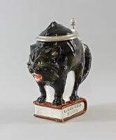 9941551 Ens/E.Bohne Porzellan Figur Bierkrug Katze schwarz klein H16cm 0,25l