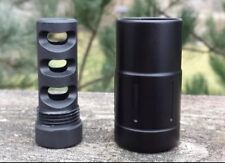 """1/2""""X28 Muzzle Brake w/ 13/16""""X16 Outer Sleeve (2.325"""" 2PC W/SD) SLOT #S3"""