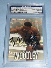Tyron Woodley Signed UFC 2012 Topps Knockout Card #71 PSA/DNA COA Autograph 171