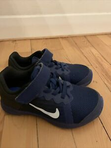 Nike Downshifter 8 Navy Blue Trainers Junior Kids 10 Immaculate Condition