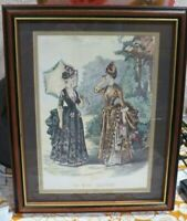 LA Mode Illustree - Leroy Imp Paris Victorian Ladies Vintage Print