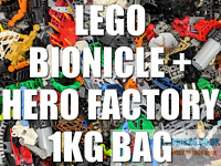 ⭐️LEGO 1Kg BIONICLE / HERO FACTORY / FIGURES ~ CLEAN & GENUINE ~ BULK JOB LOT⭐