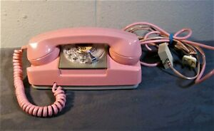 Princess Phone Pink GTE Rotary Dial Model 182 (?) Excellent Untested
