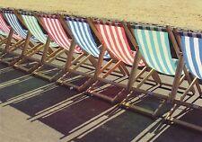 (46988) Postcard / Photocard Beach Deckchairs