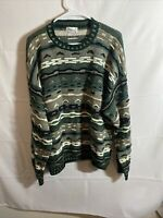 VTG Protege Mens 90s Retro Sweater Biggie Cosby Coogie XL Green Made in USA