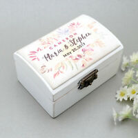 Personalized Ring Box Engagement Box Wedding Ring Bearer Box Proposal Ring Box