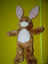 "Build-A-Bear Babw Brown Bunny Rabbit Plush Stuffed Animal Toy 17"" Pink Ears Nwot"