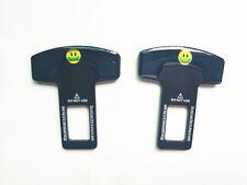 2× Safety Seat Belt Buckle Alarm Stopper Eliminator Clip Stop Warning Smile Face