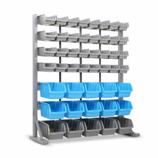 47 Bin Storage Shelving Rack Garage Workshop Tool Organiser 7 Tier Unit