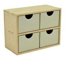 Wood 4 Square Drawers Scrapbooking Beyond The Page by Kaisercraft Paper Crafting