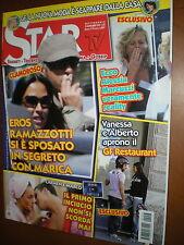 Star Tv.EROS RAMAZZOTTI & MARICA PELLEGRINELLI,ELISABETTA CANALIS,, MIRKA VIOLA