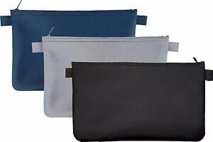 3 x Banktasche Kunstleder Geldtasche Aufbewahrungstasche Geldmappe Kfz Tasche