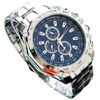Luxury Mens Watches Dial Analog Quartz Stainless Steel Sports Dress Wrist Watch