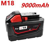 1x 9000mAh Milwaukee 48-11-1890 M18 18V Li-Ion High Demand XC 9.0 Ah Battery WM