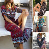 Plus Size 5XL Dress Sundress Short Sleeve Women Summer Beach Long Maxi