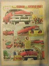 Ford Car Ad: The Standard For The American Road from 1953 Size:11 x 15 inches