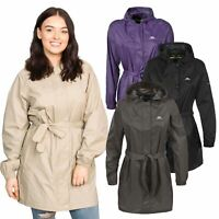 Trespass Womens Long Rain Jacket Waterproof Wind Packaway Coat