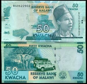 MALAWI 50 KWACHA 2017 P 64 d UNC