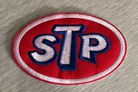 "STP Iron Sew On Patch Motor Oil NEW 2"" NASCAR Racing US SELLER Embroidered"
