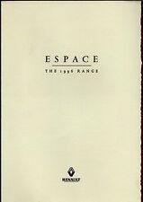 RENAULT ESPACE 1996 UK MARKET FOLDOUT vendite opuscolo HELIOS Alize Executive