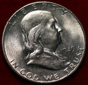 Uncirculated 1949-S San Francisco Mint Silver Franklin Half