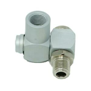 """Swivel Joint Air Line Connector 1/4"""" BSP Male Female Fitting Flexible Joint"""