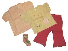 Stock lotto camicia t-shirt leggings calzini bimba neonata 6/9 mesi PRENATAL