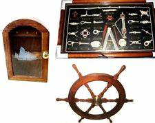 3er Set Key Box Sail Boat/Steering Wheel / Nodes Table -knoten - English