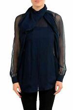 Dsquared2 Women's 100% Silk Scarf Imitation Long Sleeve Blouse Top US M IT 42