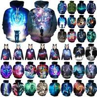 Galaxy 3D Print Couples Pullover Hoodie Sweatshirt Men Women Jumper Outwear Top