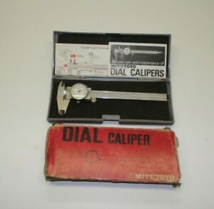 "Vintage Mitutoyo Dial Caliper 505-626  6""  .001"" Made In Japan"