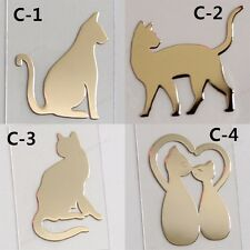 TPD 4pcs 24K Gold Plated Anti Radiation Block Shield Cat Stickers Standard Ship