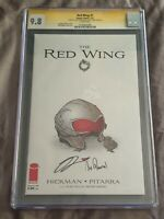 The Red Wing #1-CGC 9.8-NM/M-1st print-signed Jonathan Hickman and Nick Pitarra