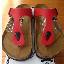 Birkenstock Gizeh 043741 size 43 L 12M 10 R Red Birko-Flor Thong Sandals