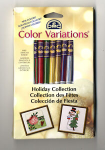 8 Skeins of DMC Floss / Thread Color Variations Holiday Collection 417XUS6/3