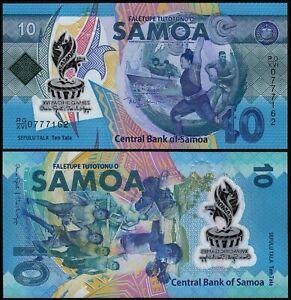 SAMOA 10 TALA (P NEW) 2019 COMMEMORATIVE ISSUE POLYMER UNC