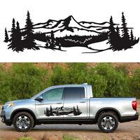 2 X Car Trailer Truck Mountain Decal Tree Forest DIY Vinyl Graphic Sticker