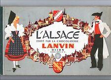 L'ALSACE édité par la chocolaterie LANVIN. Dessins de Pierre JOUBERT. 1960 env.