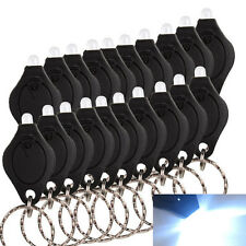 Portable Keychain Fish Lamp Keyring Mini Ring Bright Flashlight LED 10 PCS