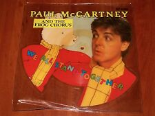 "PAUL McCARTNEY WE ALL STAND TOGETHER *RARE* 7"" SHAPED PICTURE DISC VINYL UK 1984"