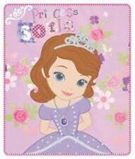 """Disney Princesse Sofia """" fleurs """" Couverture polaire grand imprimé cadeau idéal"""