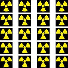 20 Aufkleber 2cm Radioaktiv Strahlung Symbol Zeichen Modellbau RC Mini Sticker