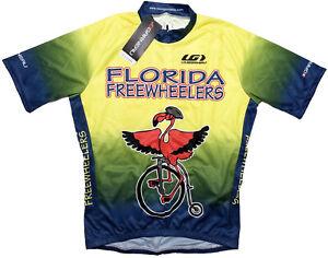 LOUIS GARNEAU Men's Cycling Sport Jersey Flamingo Florida Yellow Small ~ New