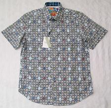 ROBERT GRAHAM Mens AVENUE TAWADA Short-Sleeve Classic Fit Shirt Medium NWT