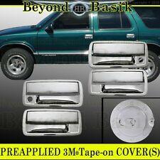 2001-2004 CHEVY S10 GMC SONOMA Chrome Door Handle 4Door+Gas fuel COVERS Overlay