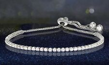 Adjustable Tennis Bracelet with Swarovski Elements: Sterling Silver